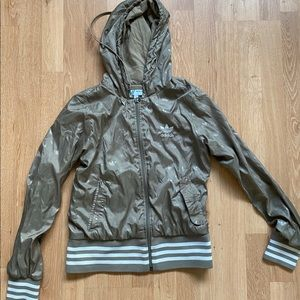 Adidas Track Jacket Olive colored (xs)